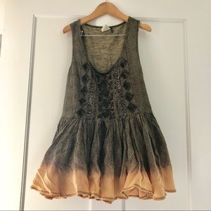 Anthropologie Akemi + Kin sequined peplum tank xs